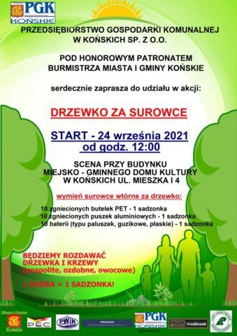 plakat drzewko za surowce 2021